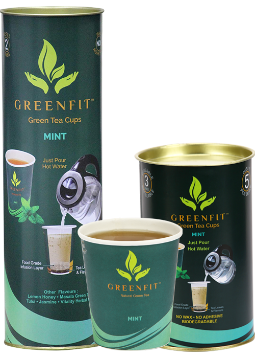 Mint flavor green tea